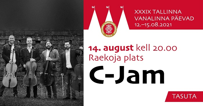 14. augustil kell 20.00 täidab Raekoja platsi tšellomuusika