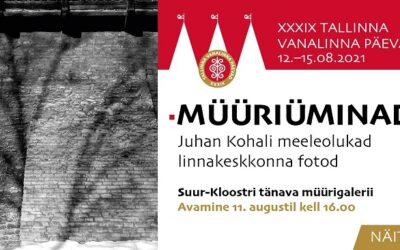 11. augustil kell 16.00 avatakse Suur-Kloostri tänava müürigaleriis Juhan Kohali meeleolukate linnakeskkonna fotode näitus MÜÜRIÜMINAD