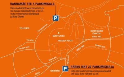 Tallinna Vanalinna Päevade ajal on vanalinnas parkimise päevapilet 5€